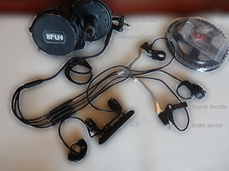 8-Fun BBS01 CD kit   Chain Drive Electric Bike Kits from Woosh